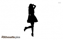 Stylish Girl Posing Silhouette