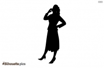 Silhouette Of Girl With Butterfly