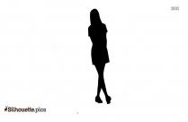 Stylish Teen Girl Silhouette