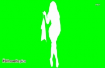 Stylish Woman Outline Silhouette