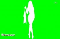 Stylish Woman Dancing Silhouette