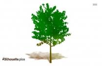 Summer Tree Silhouette Free Vector Art