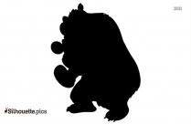 Christmas Bear Head Clipart Silhouette