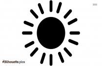 Sun Shape Silhouette Image