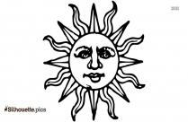 Sun Drawing Silhouette Illustration