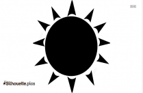 Sun Drawing Vector Silhouette