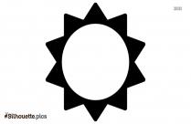 Cartoon Sun Shape Silhouette