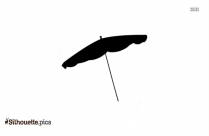 Sun Umbrella Silhouette Drawing