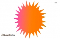 Sun Vector Clipart Silhouette