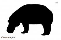 Sunda Rhinoceros Silhouette Art