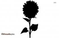 Dahlia Flower Silhouette Image