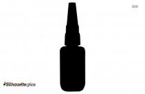 Glue Bottle Silhouette Art