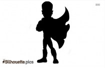 Cartoon Boy PNG Silhouette