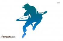 Superhero With Bow And Arrow Silhouette Clip Art