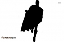 Black Superman Toy Silhouette Image