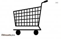Supermarket Cart Clipart Silhouette