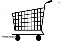 Supermarket Trolley Silhouette Clipart
