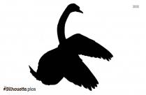 Cartoon Swan Silhouette