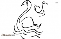 Black And White Swan Silhouette