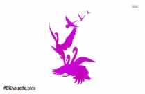 Swan Drawing Silhouette Vector And Graphics