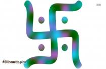 Swastika Silhouette Vector
