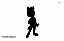 Cartoon Fred Flintstone Silhouette