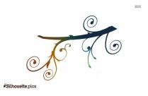 Swirly Branch Vector Silhouette