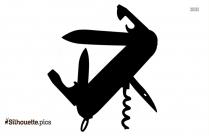 Kitchen Knife Silhouette Clip Art