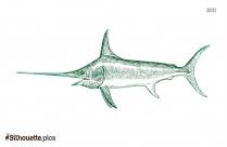 Swordfish Art Silhouette Clipart