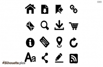 Symbol Icons Silhouette Vector