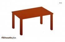 Teak Drop Leaf Dining Table Silhouette