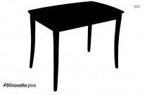Round Table Clipart Silhouette