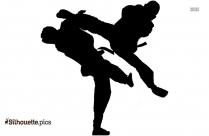 Taekwondo Art Clipart || Karate Martial Art Silhouette