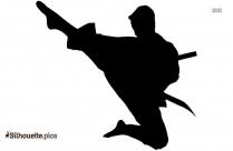 Karate Teen Boy Clipart || Martial Artist Silhouette