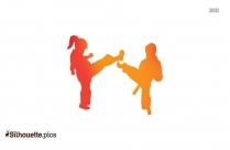 Korean Karate Clipart, Silhouette