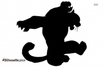 Tai Lung Silhouette Vector Free