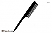 Hair Comb Silhouette Drawing