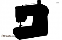 Tailor Sewing Machine Clipart Silhouette