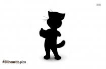 Talking Tom Cat Silhouette Vector And Graphics