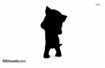 Cartoon Persian Cat Silhouette Picture
