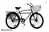 Tall Bike Clipart    Supersized Tall Boy Zize Bike Silhouette