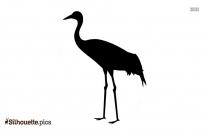 Silhouette Of Crane Bird