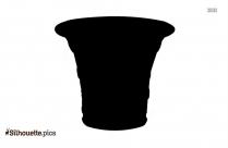 Black Flower Vase Silhouette Image