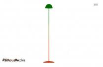 Tall Light Lamp  Silhouette Clip Art Image