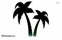 Palm Tree Island Clip Art Silhouette