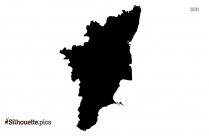 Tamil Nadu Map Silhouette Black And White