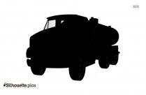 Tanker Truck Cartoon Symbol Silhouette