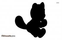Luigi Running Silhouette Black And White