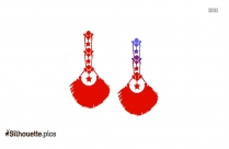 Gypsy Earrings Silhouette Background