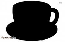 Tea Cup Silhouette, Cup And Saucer Printable